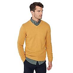 Maine New England - Mustard V-neck jumper