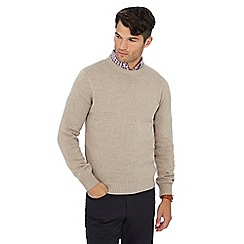 Maine New England - Beige crew neck jumper