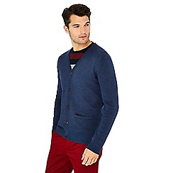 Maine New England - Blue knitted cotton cardigan