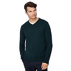Maine New England - Dark green V-neck jumper