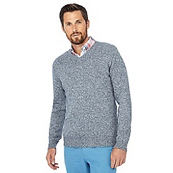 Maine New England - Pale blue V-neck jumper
