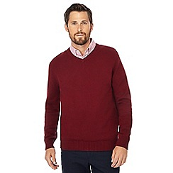 Maine New England - Dark red V-neck jumper