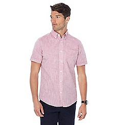 Maine New England - Red button down collar short sleeve shirt