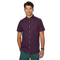 Maine New England - Red check print short sleeve regular fit shirt