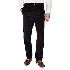 Maine New England - Black corduroy regular fit trousers