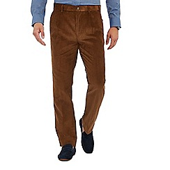 Maine New England - Big and tall tan corduroy regular fit trousers