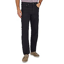 Maine New England - Big and tall dark grey straight fit trousers