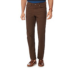 Maine New England - Big and tall brown straight fit trousers