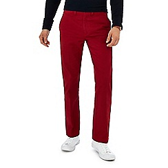 Maine New England - Dark red tailored fit chinos