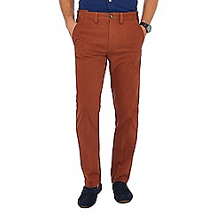 Maine New England - Big and tall dark orange tailored fit chinos