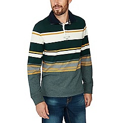Maine New England - Green stripe print cotton rugby top