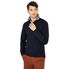 Maine New England - Big and tall navy double collar cotton rugby top