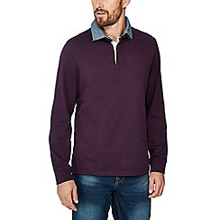 Maine New England - Purple cotton rugby top