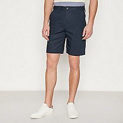 Maine New England - Big and Tall Navy Linen Blend Chino Shorts