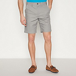 Maine New England - Big and Tall Light Grey Linen Blend Chino Shorts