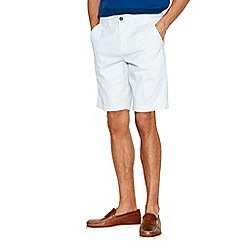 Maine New England - Big and tall white dash chino shorts