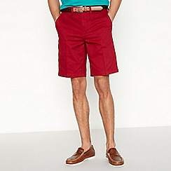 Maine New England - Dark red washed chino shorts
