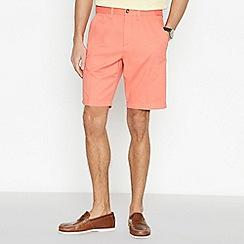 Maine New England - Bright Orange Cotton Washed Chino Shorts