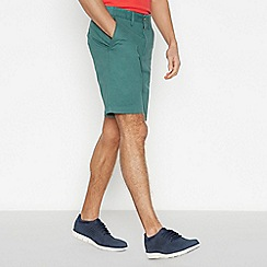 Maine New England - Green Cotton Washed Chino Shorts