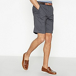 Maine New England - Dark Grey Cotton Washed Chino Shorts