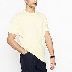 Maine New England - Big and tall light yellow cotton t-shirt