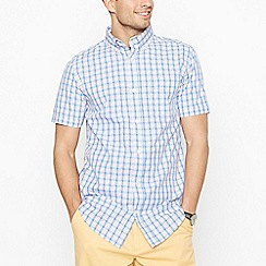 Maine New England - Big and tall pink checked short sleeve regular fit shirt