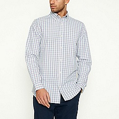 Maine New England - Yellow Mini Grid Check Long Sleeve Shirt