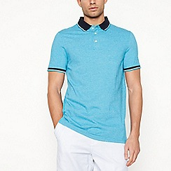 Maine New England - Turquoise textured polo shirt