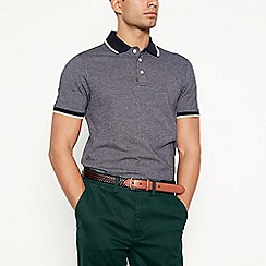 Maine New England - Navy textured polo shirt