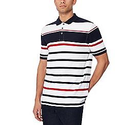 Maine New England - White striped polo shirt