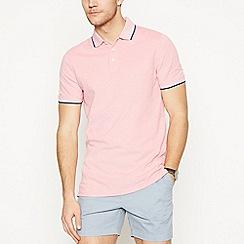 Maine New England - Big and tall dark peach tipped cotton polo shirt