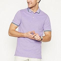 Maine New England - Lilac Tipped Cotton Polo Shirt