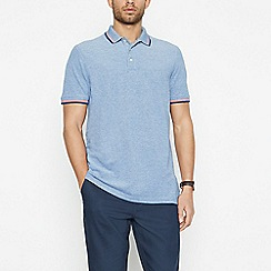 Maine New England - Dark Blue Tipped Cotton Polo Shirt
