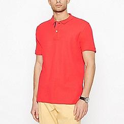 Maine New England - Bright Orange Contrast Placket Polo Shirt