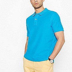 Maine New England - Big and tall bright turquoise contrast placket polo shirt