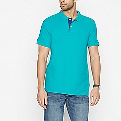 Maine New England - Big and tall bright green cotton contrast placket polo shirt