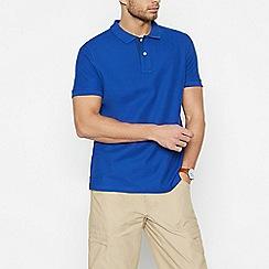 Maine New England - Blue Cotton Contrast Placket Polo Shirt