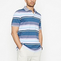 Maine New England - Lilac Striped Cotton Polo Shirt