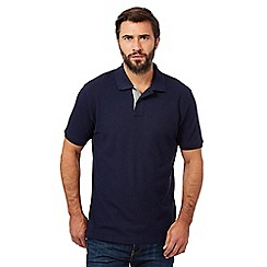 Maine New England - Big and tall navy contrast placket pique polo shirt