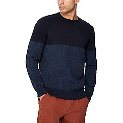 Maine New England - Navy half block jumper