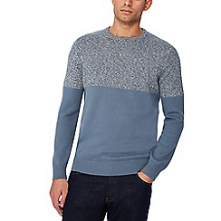 Maine New England - Blue half block jumper