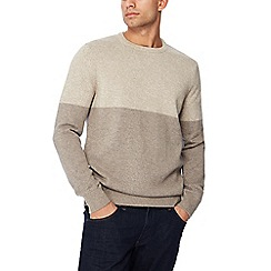 Maine New England - Grey half block jumper