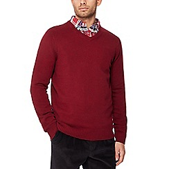 Maine New England - Red v-neck jumper