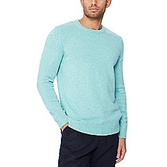 Maine New England - Light turquoise twist knit cotton jumper