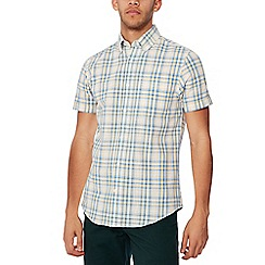 Maine New England - Yellow checked short sleeves shirt