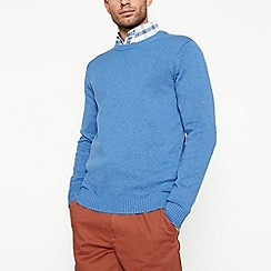 Maine New England - Mid blue cotton jumper