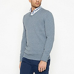 Maine New England - Dark Grey Cotton Jumper