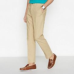 Maine New England - Beige Linen Blend Trousers