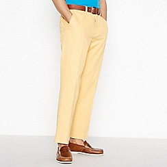 Maine New England - Big and tall yellow regular fit chinos