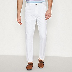 Maine New England - Big and Tall White Tailored Fit Chinos